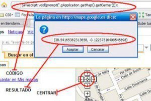 Calcular latitud y longitud en Google Maps