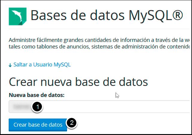Crear Base de Datos MySQL en cPanel