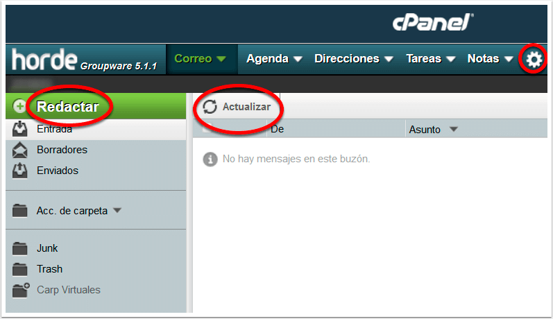 Correo Webmail Horde