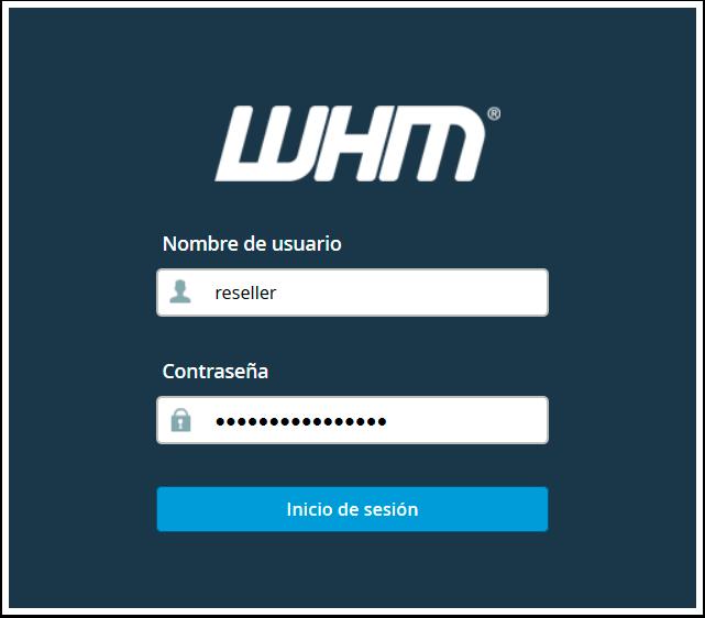 Acceso al panel WHM Reseller