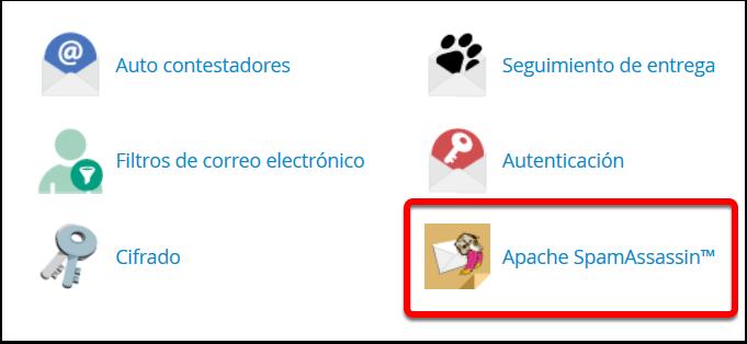 Activacion de Apache SpamAssasin