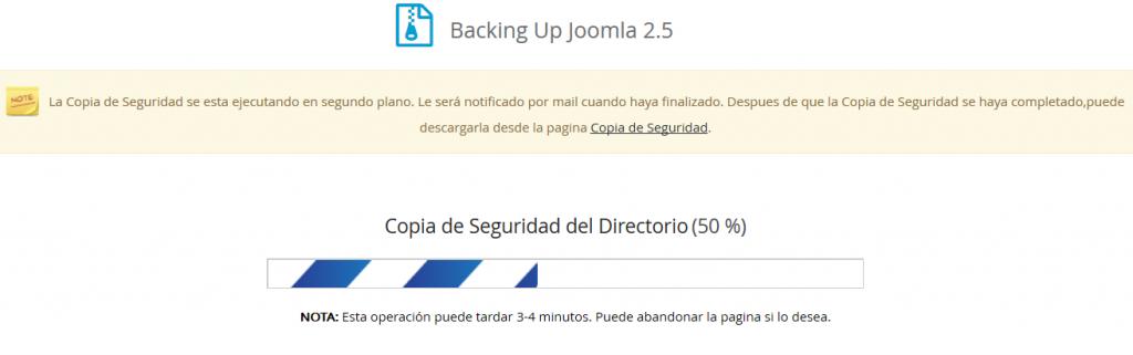 Backup Joomla