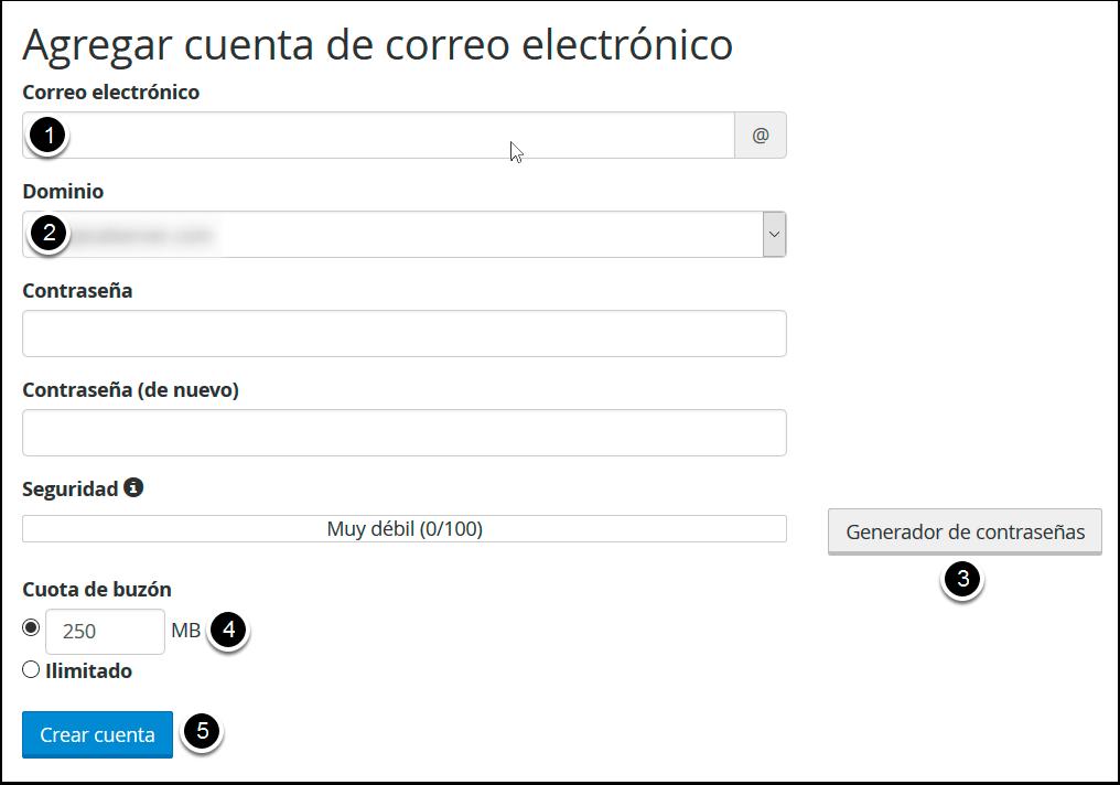 Crear una cuenta de correo en cPanel