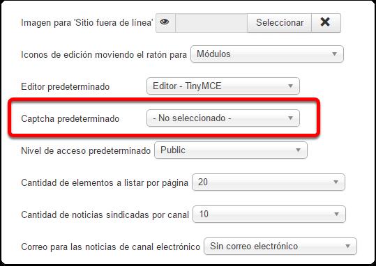 Comprobación previa de reCAPTCHA