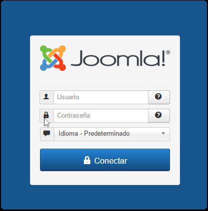 Entrada a la admin de Joomla