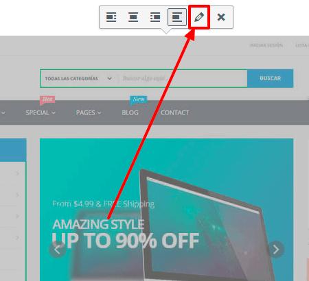 Editar imagen en WordPress