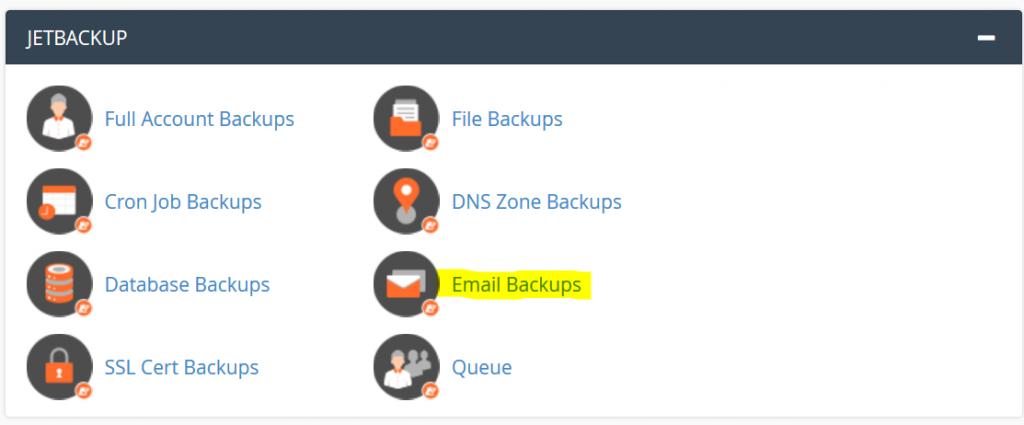 JetBackups emails