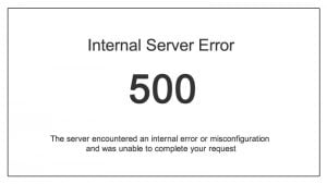 Error 500 infografía