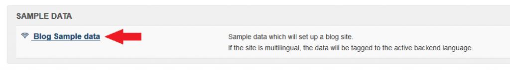 Publicación de los datos tipo Blog