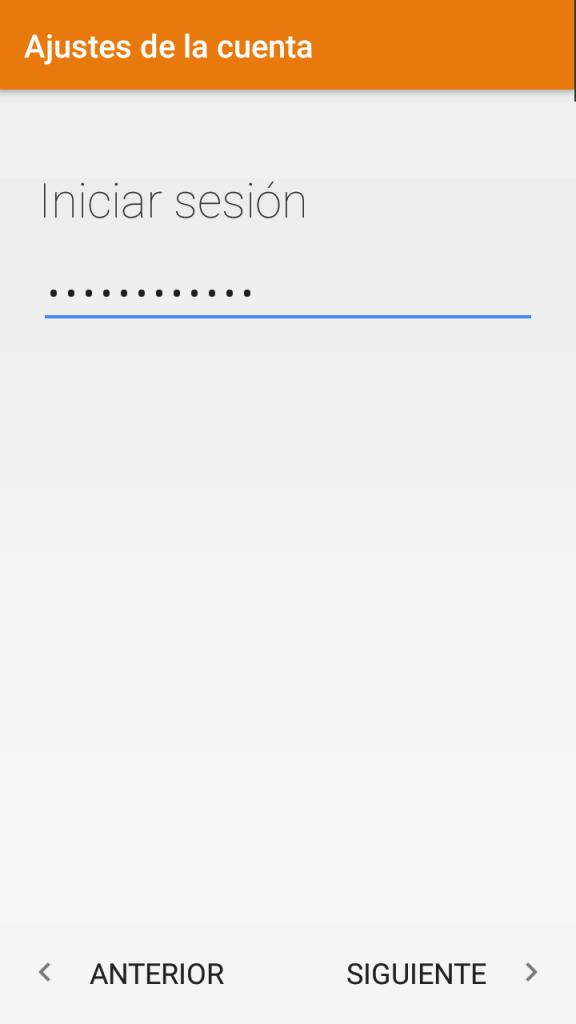 Cómo configurar una cuenta de correo en Android Paso 3: Inicio de Sesión