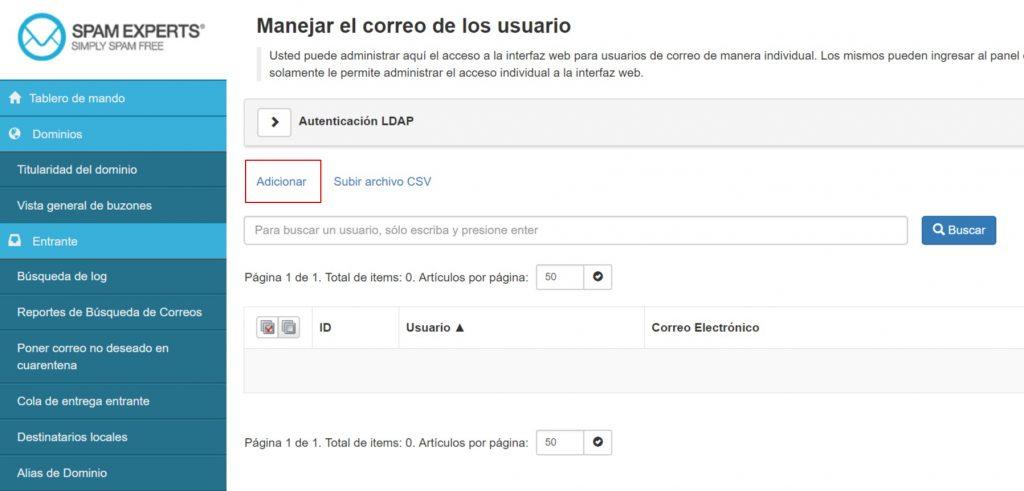 SpamExperts manejar el correo de los usuarios
