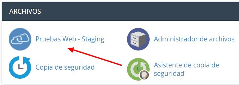 cPanel staging