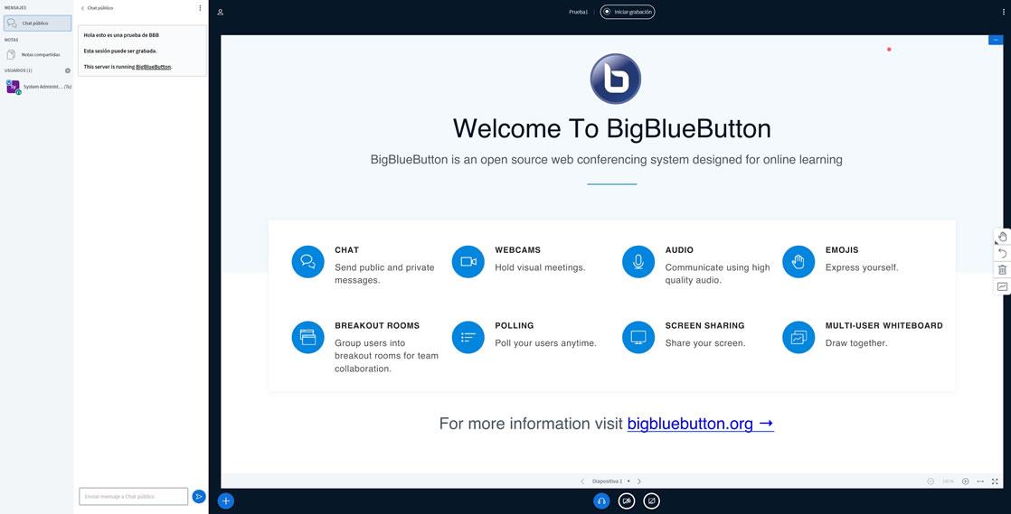 BigBlueButton entrada